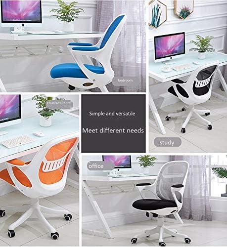 ホームオフィスの会議室研究用アームレストミッドバック付きオフィスチェア、人間工学に基づいたデスクチェアコンピュータのタスクチェアメッシュ (Color : Black, Size : Black frame)