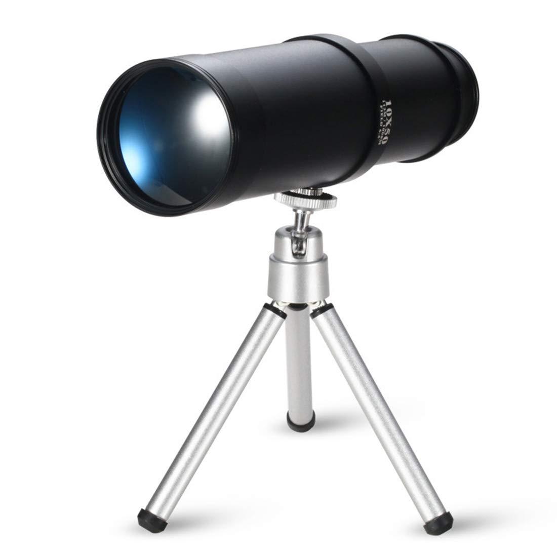 最新作の JPAKIOS 屋外使用のためのスタンドビュー望遠鏡とMonocular B07PLSQ5CW 10X50高精細 (Color : ブラック : ブラック) ブラック B07PLSQ5CW, カメラのキタムラ:bd964712 --- vanhavertotgracht.nl