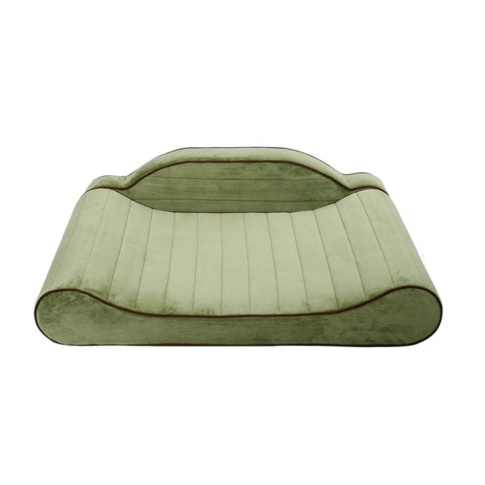 Four Seasons Universal Kennel, Short Plush Washable Pet Pad, Backrest Can Be Freely Disassembled, Velcro Inssizetion,L