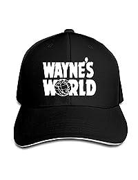 Unisex Wayne's World Logo Film Series Funny Sandwich Cap Trucker Hats