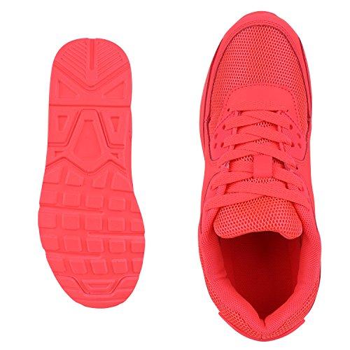 Japado Knallige Damen Herren Unisex Sportschuhe Auffällige Neon-Sneakers Sportlicher Eyecatcher Alltags-Look Angenehmer Tragekomfort Gr. 36-45 Neonpink Pink
