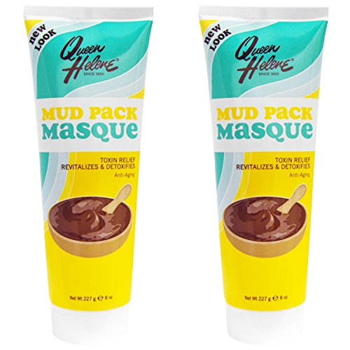 Queen Helene Mud Pack Masque (Pack of 2) with Kaolin and Bentonite Clay, Environmentally Friendly and Cruelty-free, Made in USA, 8 (Lavender Clay Mask)