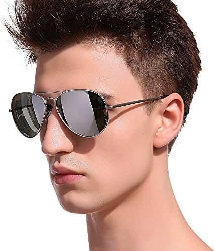 MT.MIT Classic Aviator Polarized Metal Frame Sunglasses 100% UV Protection