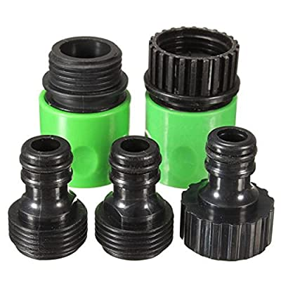 5pcs Kit Garden Watering 3/4inch Hose Plastic Quick Fitting Connect Tap Adapter