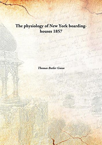 The physiology of New York boarding-houses pdf epub