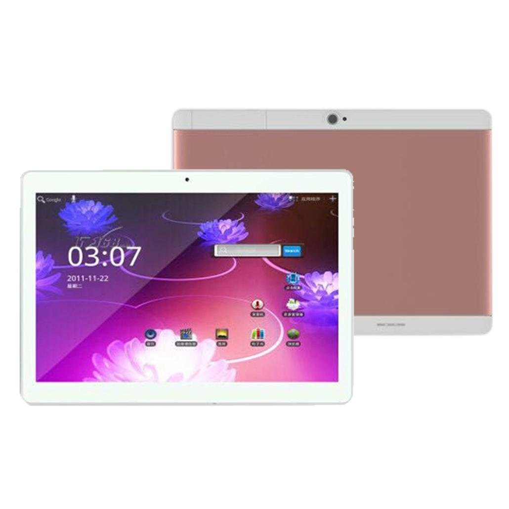 Gotd 10.1'' Tablet PC Mic WIFI Android 6.0 Octa Core 4G+64G 2 SIM 4G HD Blutooth 4.0,7000mAh Battery,226mmx161mmx9.2mm (Rose Gold) by Goodtrade8