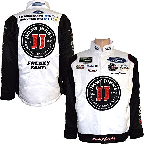 Smi Properties Kevin Harvick 2018 Jimmy Johns Uniform Nascar Pit Jacket  Medium