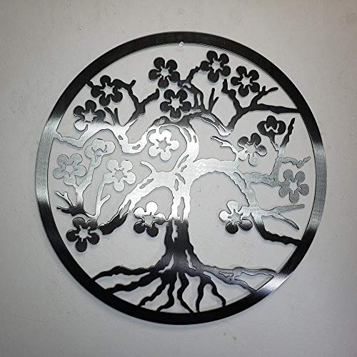 - Metal Art of Wisconsin Cherry Blossom Tree Wall Decor Hanging (4 Foot)