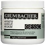 Grumbacher 52516 16-Ounce Gesso (Hyplar) Artists Acrylic Medium Jar (Limited Edition)