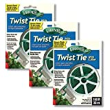 Gardeneer Twist Tie Plant Securers with Cutter, 100', 3 Pack