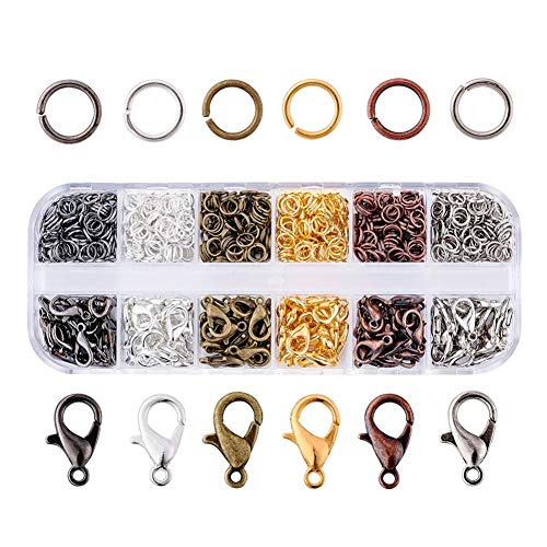 - iZasky Open Jump Rings and Lobster Clasp Mixed Color 120Pcs Kit for Jewelry DIY Making Accessory and Necklace Bracelet Chain Earring