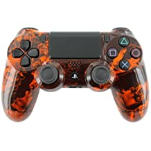 """Zombie Orange"" PS4 Custom Modded Controller Exclusive Design - COD Ready É"