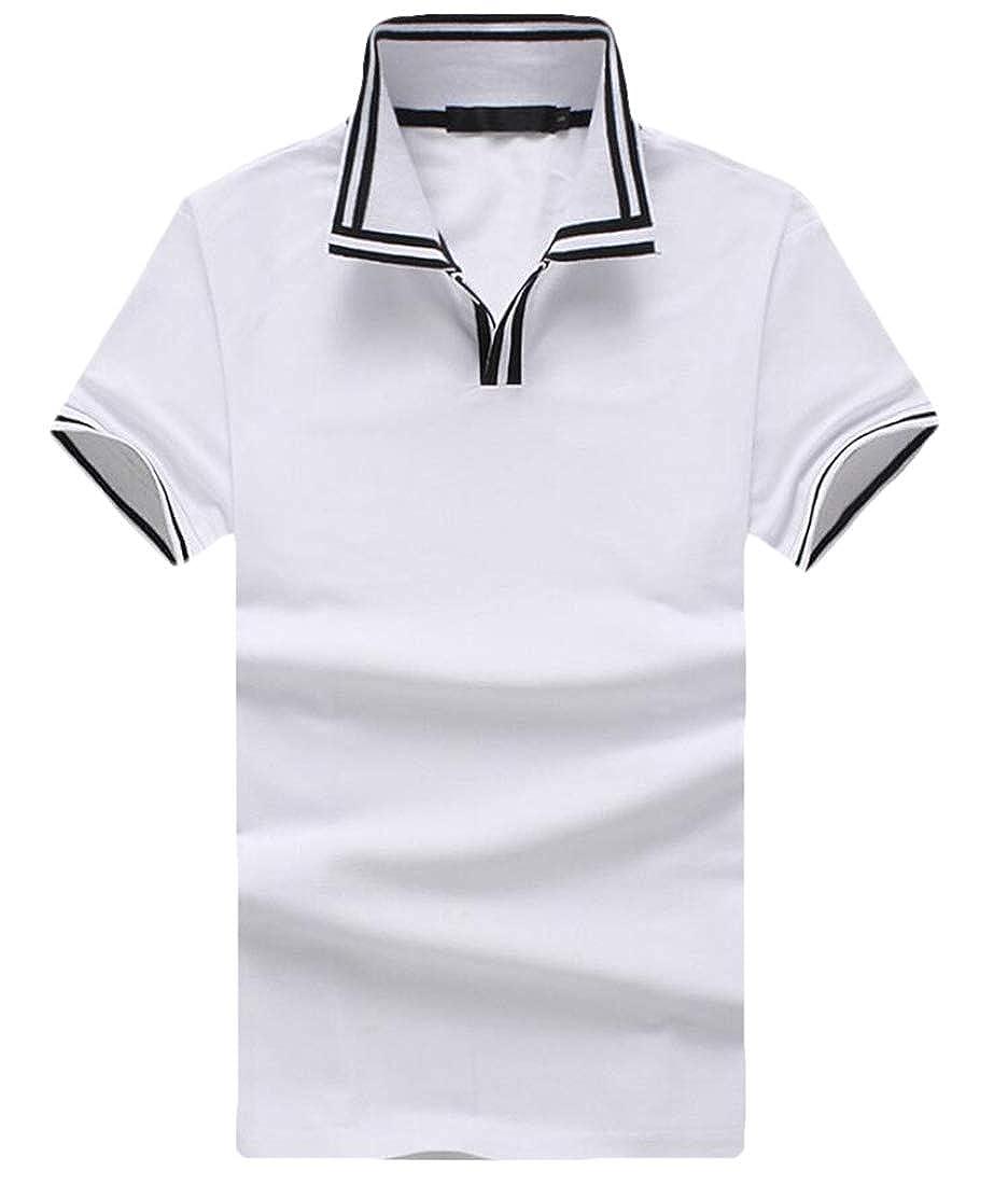 Men Polo Shirt Fashion Top Casual Classic Slim Short Sleeve Polo Shirt