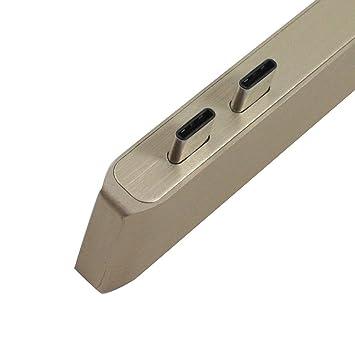 LIUYUNE,6-en-1 Multi-Puerto USB C Hub Adaptador de Tarjeta ...