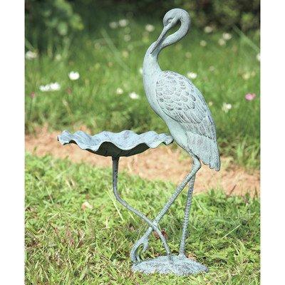 SPI Home 33086 Crane Birdbath
