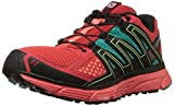 Salomon Women's X-Mission 3 Athletic Shoe, Infrared/Coral Punch/Teal Blue, 10.5 Medium US