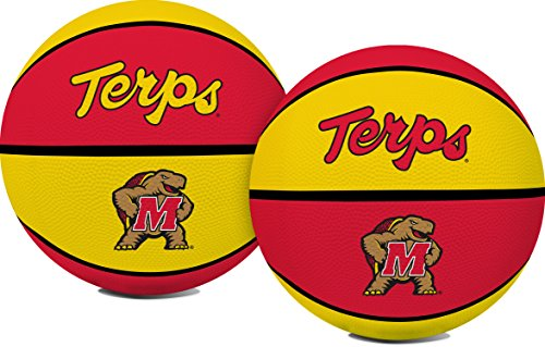 NCAA Maryland Terapins Crossover Full Size Basketball by Rawlings (Basketball Terps)