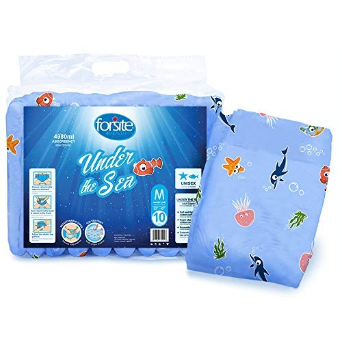Forsite Health Under The Sea Max Adult Briefs (Medium 32'-40')