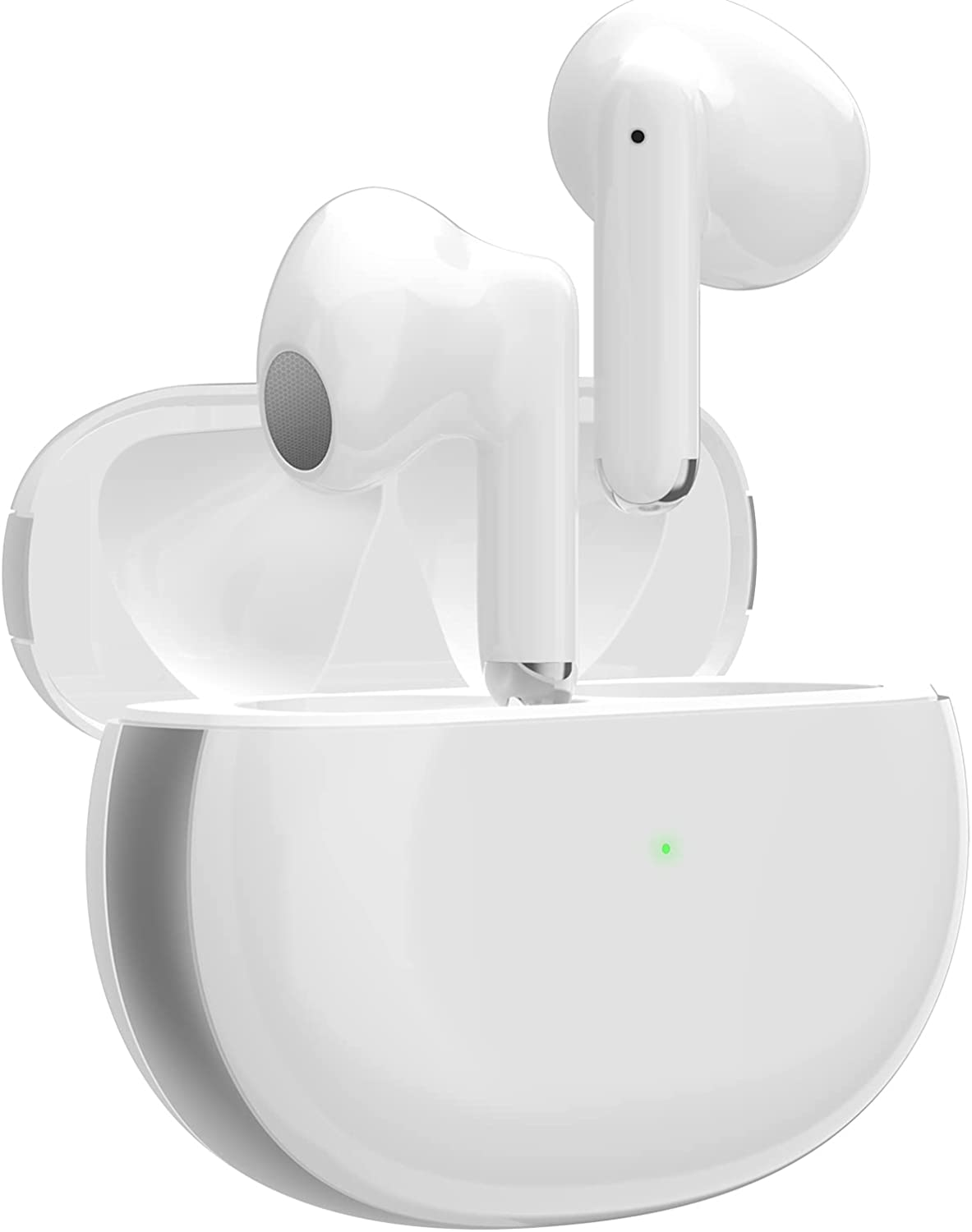 Wireless Earbuds Bluetooth 5.2 Headphones with Fast Charging Case High Fidelity Stereo CVC8.0 Noise Cancelling Earbuds in-Ear Built-in Mic Touch Earbuds IPX5 Waterproof for iPhone/Android/Samsung