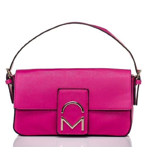 Noble Mount Bewitched Baguette Handbag - Solid Fuschia