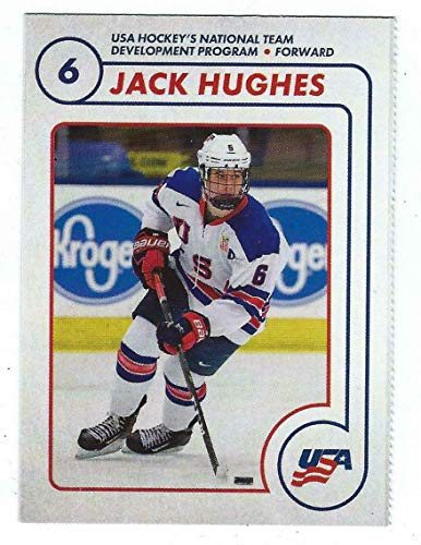 - Jack Hughes 2018/19 USA NTDP Team Issued 1st Ever Card - Unsigned Hockey Cards