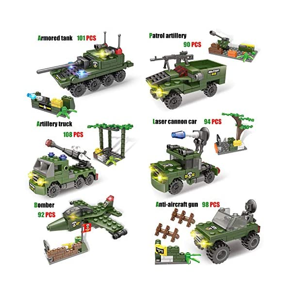City Police Station Building Kit, Army Military Base Building Set, Heavy Transport Truck Toy with Armored Vehicles…