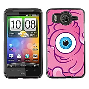 For HTC G10,S-type® Sponge Pink Character Eye Kids - Arte & diseño plástico duro Fundas Cover Cubre Hard Case Cover