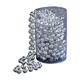 Kurt Adler 15ft Silver Bead Garland Christmas Decoration (Small Image)