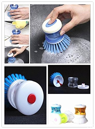 MAZIMARK--DIUSNew Kitchen Wash Tool Pot Pan Dish Bowl Palm Brush Scrubber Cleaning - Springs Palm Center Outlet