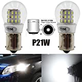 rv 53 - AMAZENAR 2-Pack 1156 BA15S 1141 1003 7506 1073 Extremely Bright White LED Light 9-30V-DC, AK-3014 39 SMD Replacement Bulbs For Interior RV Camper Brake Tail Back Up Reverse Bulbs Day Running Light