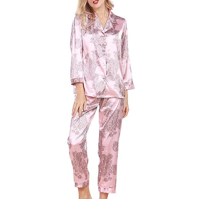 Mujer Conjunto De Pijama Tops Pants 2 Pedazos Primavera ...