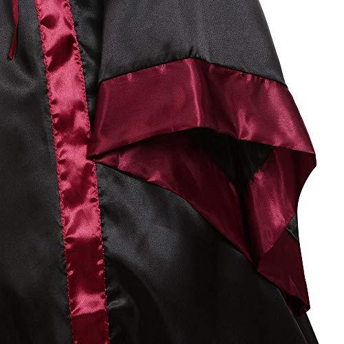 Maxi Manches Cosplay Carnaval Costume Robe Adulte Pour Halloween Déguisement Capuche Millenniums Vampire Drame Toussaint Noir Médiéval Bandage À Sorcière Évasées vywOmNn80