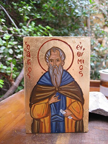 St Euthymius the great hand-painted byzantine icon greek orthodox saint Eftymios