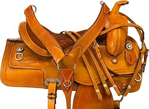Western Roping Saddle Set - 1