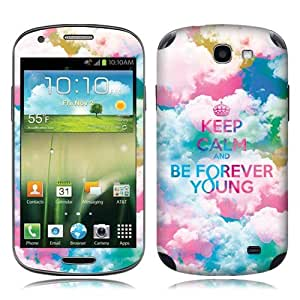 Fincibo (TM) Samsung Galaxy Express I437 Accessories Skin Vinyl Decal Sticker - Keep Calm Be Forever Young