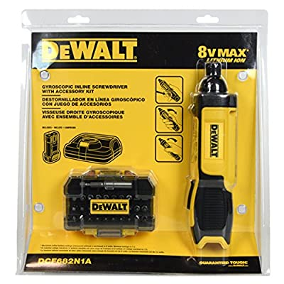 Dewalt 8-Volt Max Lithium-Ion 1/4 in. Hex Cordless Gyroscopic Screw Driver Bundle DCF682N1A