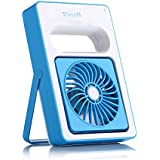 ThreeH Summer Fashion Cooling USB Mini Portable Exqusite Fan Personal Battery Operated Handheld USB Fan USB Rechargeable Mini Fan for Home Outdoors or Travel Use H-DL001Purple