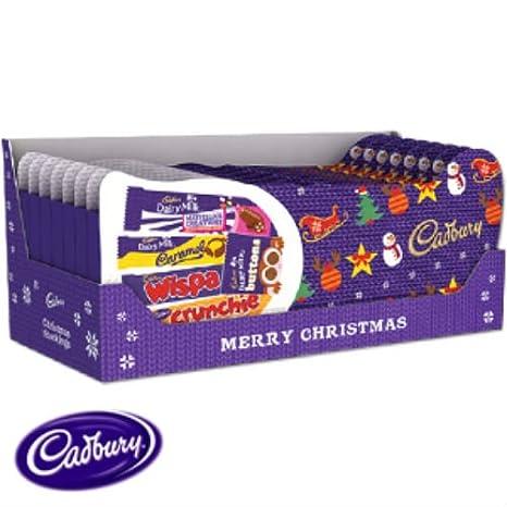 Cadburys  christmas  stocking satin with fur top