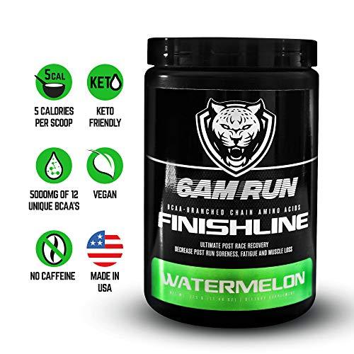 6AM Run Finishline Watermelon 50 Scoops Sprint Run – Watermelon BCAA – Marathon Run – Run Recovery – Branch Chain Amino Acids Watermelon – Amino Lean Watermelon – Running Supplements – 6a mi