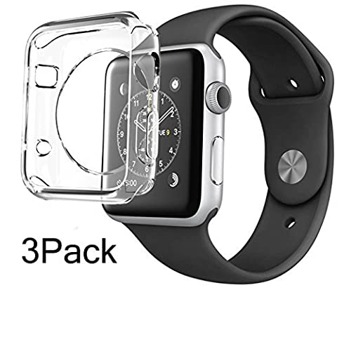 For Apple Watch Case 38mm CaseHQ Hard Soft TPU Transparent Full Body Screen Protector 0.3mm Thin Case Apple Watch Cover For Apple Watch / Watch Sport / Watch 2015(38mm) Crystal Clear (38mm - Diamond Protector Faceplate