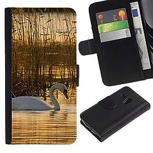 JackGot ( Natura Bella Forrest Verde 76 )Samsung Galaxy S3 MINI i8190 (NOT S3) la tarjeta de Crédito Slots PU Funda de cuero Monedero caso cubierta de piel