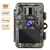 MOPHOTO Trail Game Camera 16MP 1080P Hunting Scouting Hunting Camera with Night Vision Motion Activated Waterproof Wildlife Monitoring 120° Detecting Range 2.4″ LCD 44 IR LEDs