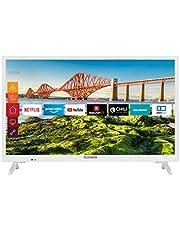 Telefunken XH24J501V-W 24 inch televisie (Smart TV incl. Prime Video/Netflix/YouTube, HD ready, 12 Volt, Works with Alexa, Triple-Tuner) [Modeljaar 2021]