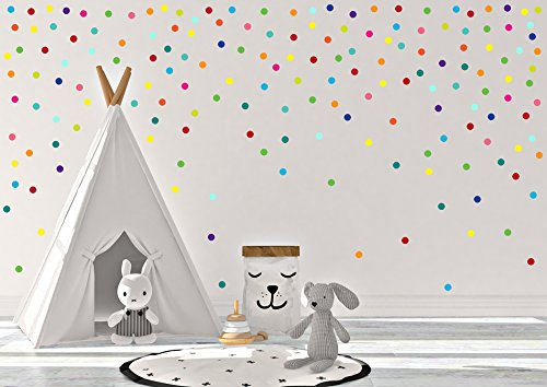 Amazon.com: Rainbow Confetti Polka Dot, Wall Decals Kids Room, Nursery Wall  Decal, Polka Dot Sticker, Polka Dots Art, Baby Room Decals, Polka Dot Decals:  ...