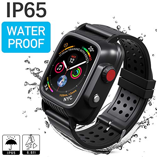 - Waterproof Case Compatible with Apple Watch Series 3 42mm, MixMart Waterproof Watch Case for iWatch Series 3 42mm with Built-in Screen Protector and 3 Watch Strap Bands S/M/L, Black