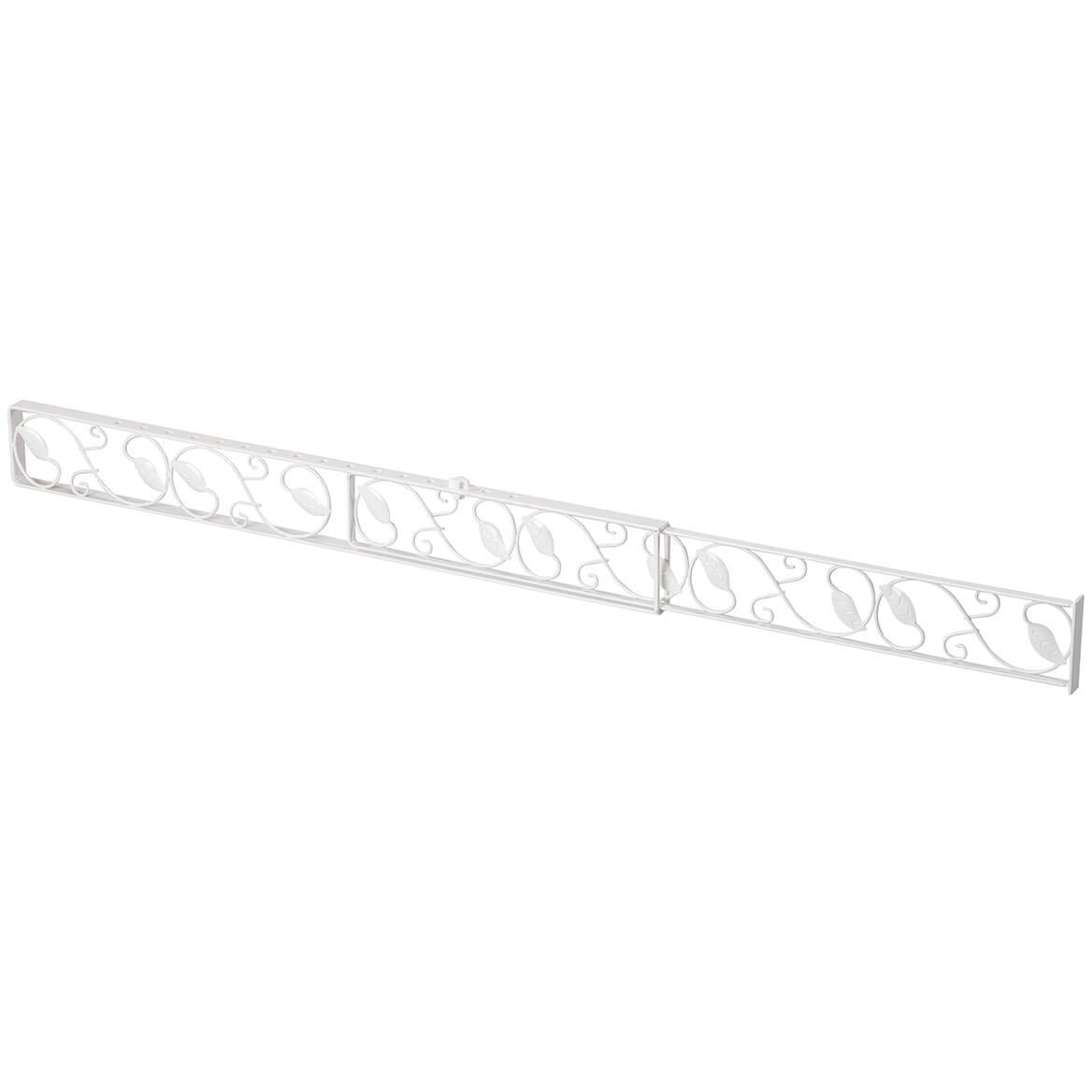 U.S. Patrol ZB8095WHI White Sliding Door Lock BAR by U.S. Patrol