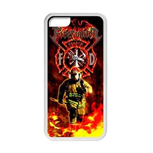 meilinF000Generic Custom Unique Otterbox You Deserve--American Flag Firefighter Emblem in Flames Fire Rescue Symbol Plastic and TPU Black and White Case Cover for iPhone5CmeilinF000