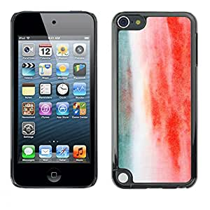 MOBMART Carcasa Funda Case Cover Armor Shell PARA Apple iPod Touch 5 - Clouds Of Green And Red