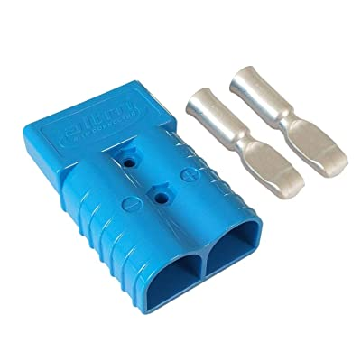 350A Battery Connector AWG 2/0 Quick Connect Battery Modular Power Connectors Quick Disconnect (Blue): Automotive