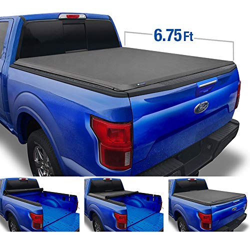 Tyger Auto T1 Roll Up Truck Tonneau Cover TG-BC1F9127 Works with 2017-2019 Ford F-250 F-350 F-450 Super Duty | Styleside 6.75' Bed